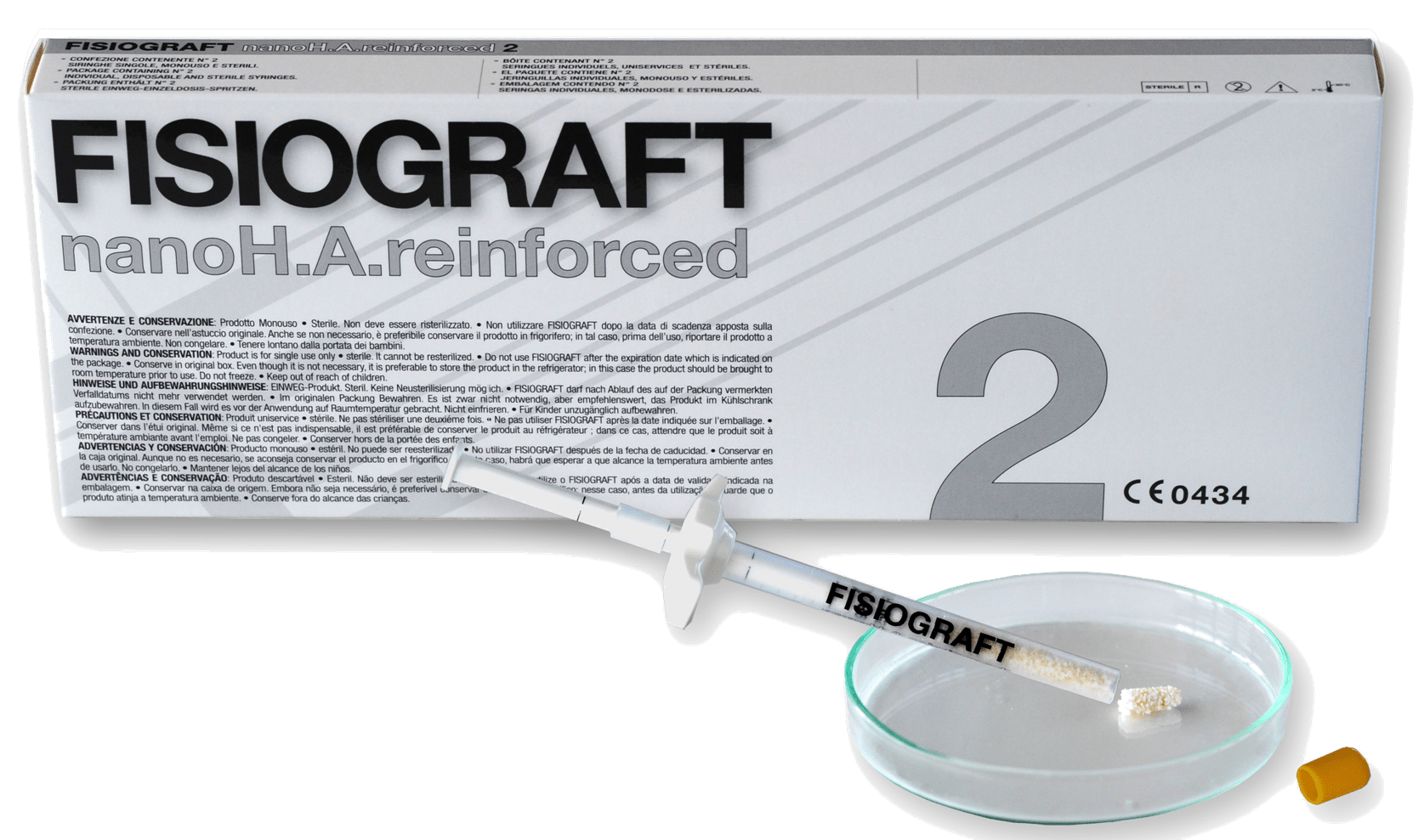 Implantologia - Fisiograft nano H.A. reinforced  2 siringhe