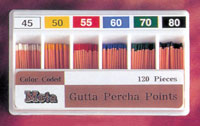 Punte Guttaperca - Guttaperca Color Coded 40 x 120 pz